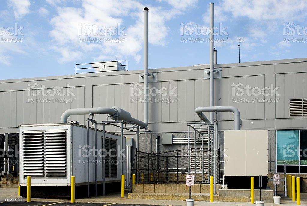 Standby generators stock photo