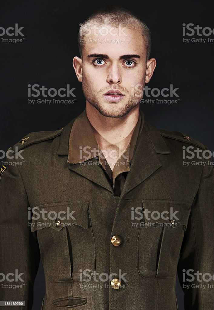 Standing at attention royalty-free stock photo