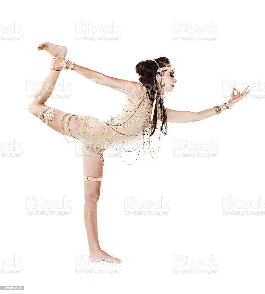 Standing Bow Yoga Pose: Dandayamana-Dhanurasana stock photo