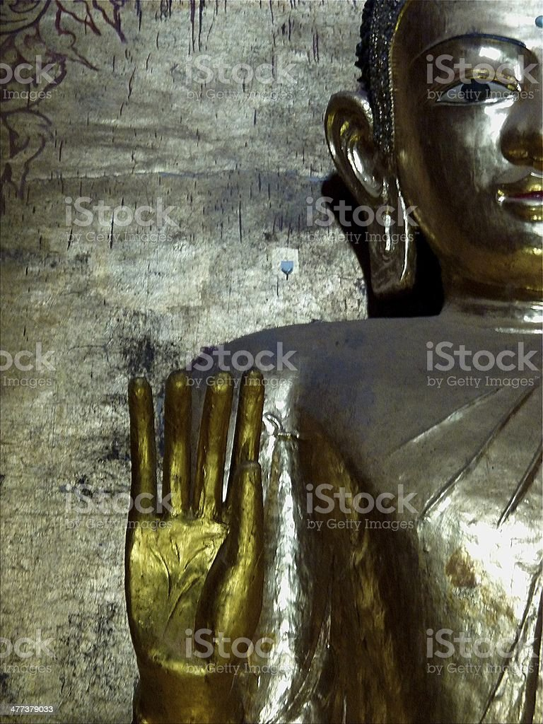Standing Buddha, Ananda temple - Bagan, Myanmar royalty-free stock photo