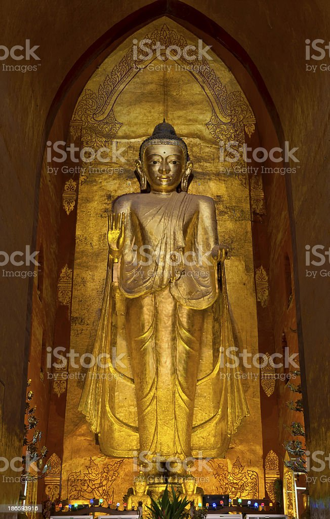 Standing Buddha at the Ananda Temple - West Facing royalty-free stock photo