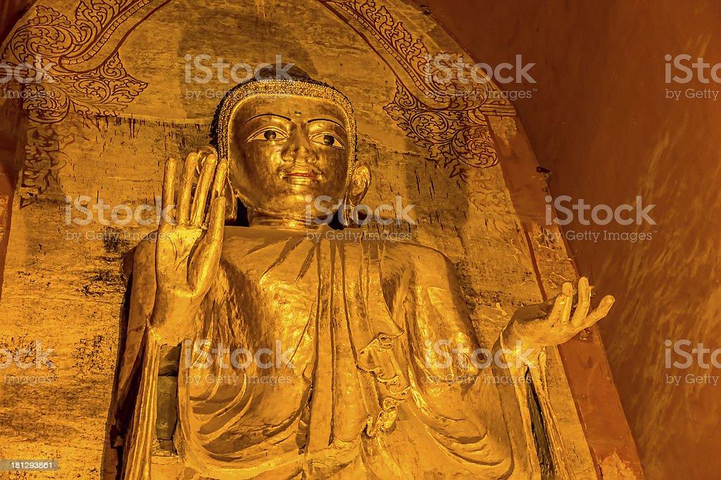 Standing Buddha Gotama West facing stock photo