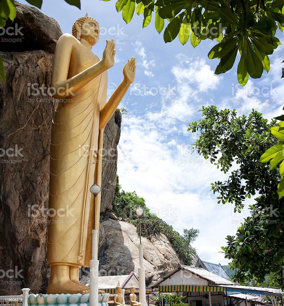 Standing Buddha stock photo