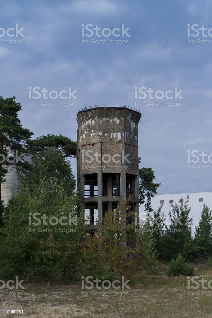 Standing bunker on the beach in Gdansk, Second World War royalty-free stock photo