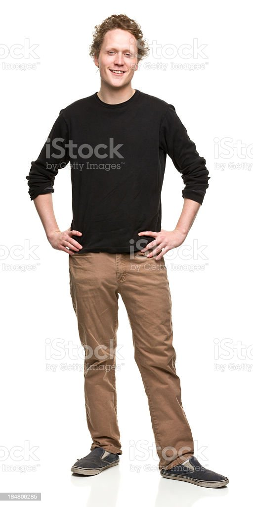 Standing Cheerful Young Man royalty-free stock photo