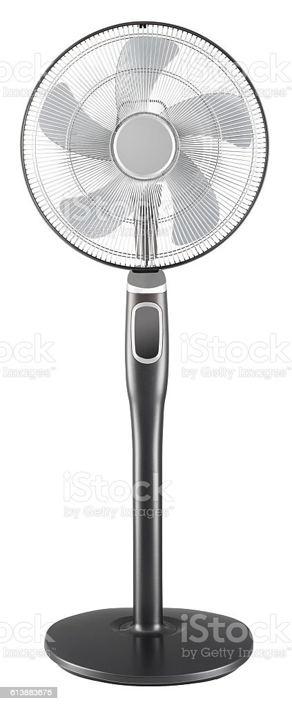 Standing electric fan stock photo