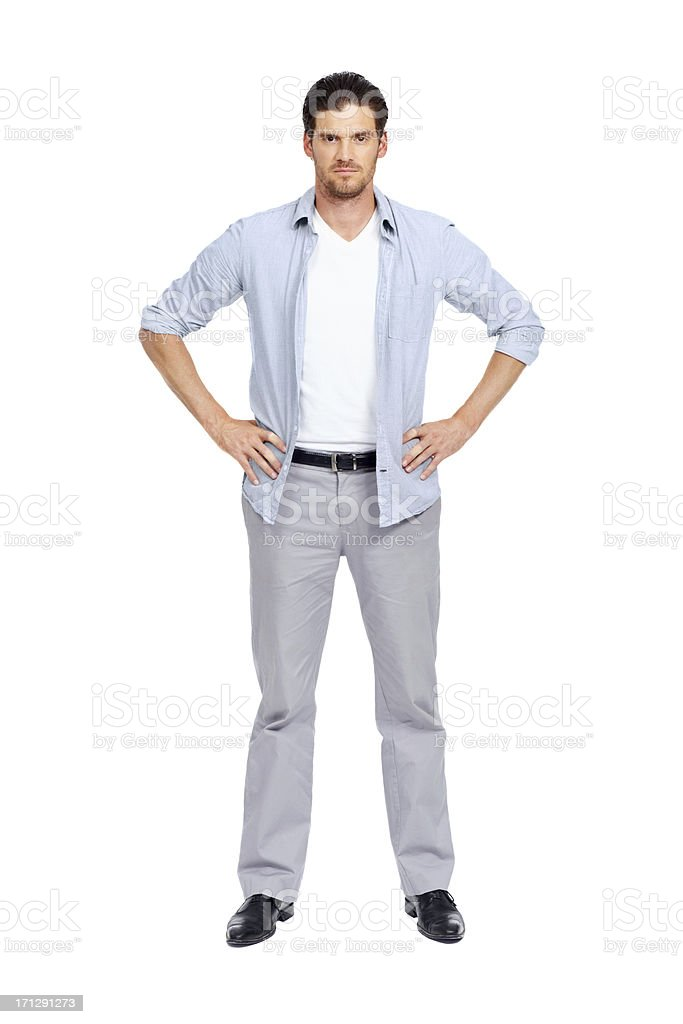 Standing firm for the regular guy stock photo