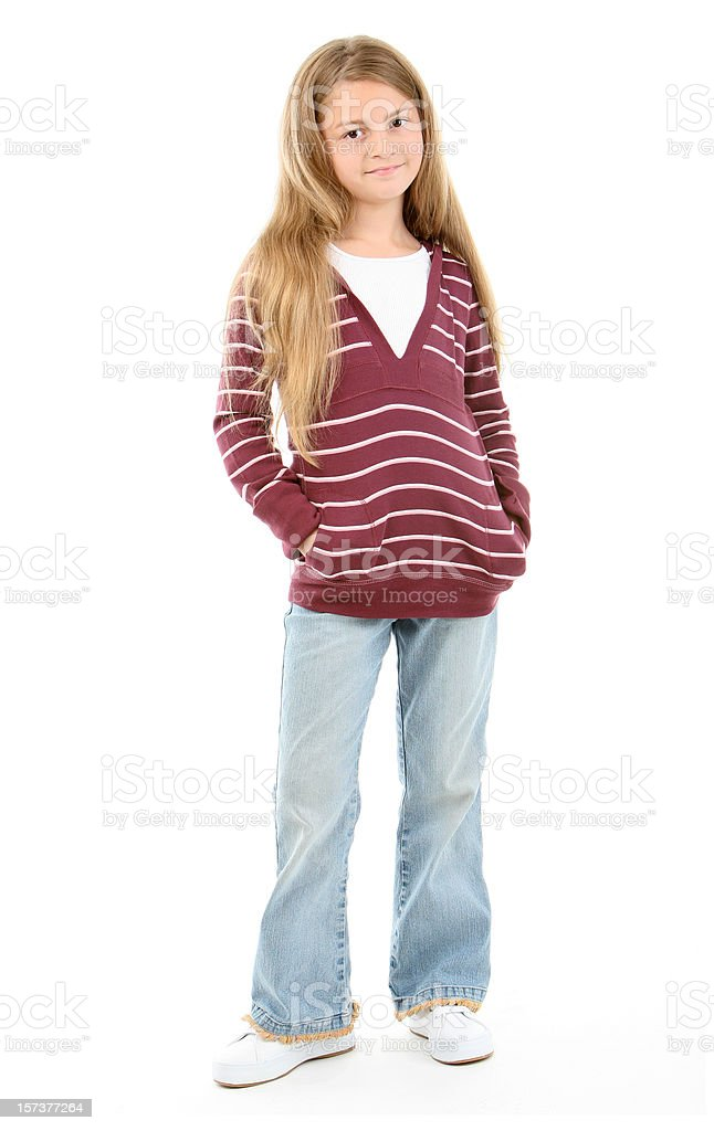Standing girl royalty-free stock photo
