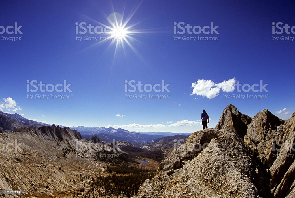 Standing in awe royalty-free stock photo