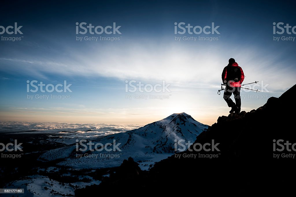 standing in awe stock photo