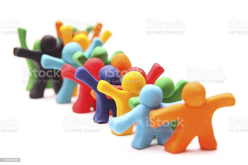 standing in line royalty-free stock photo