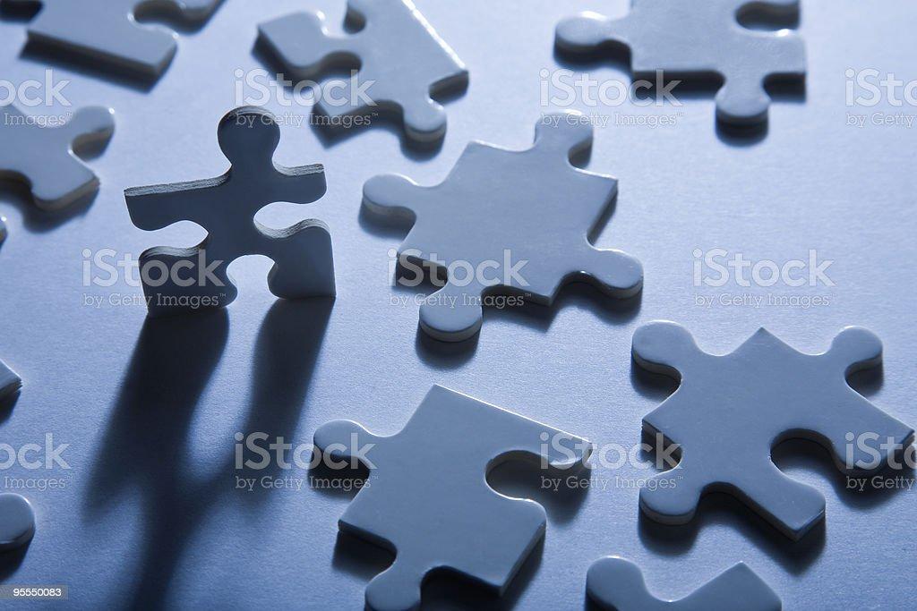 Standing Jigsaw Piece stock photo