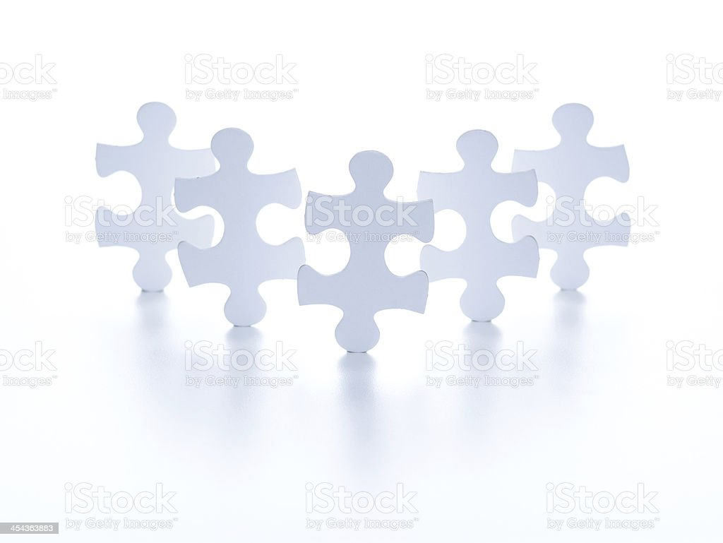 Standing jigsaw puzzle royalty-free stock photo