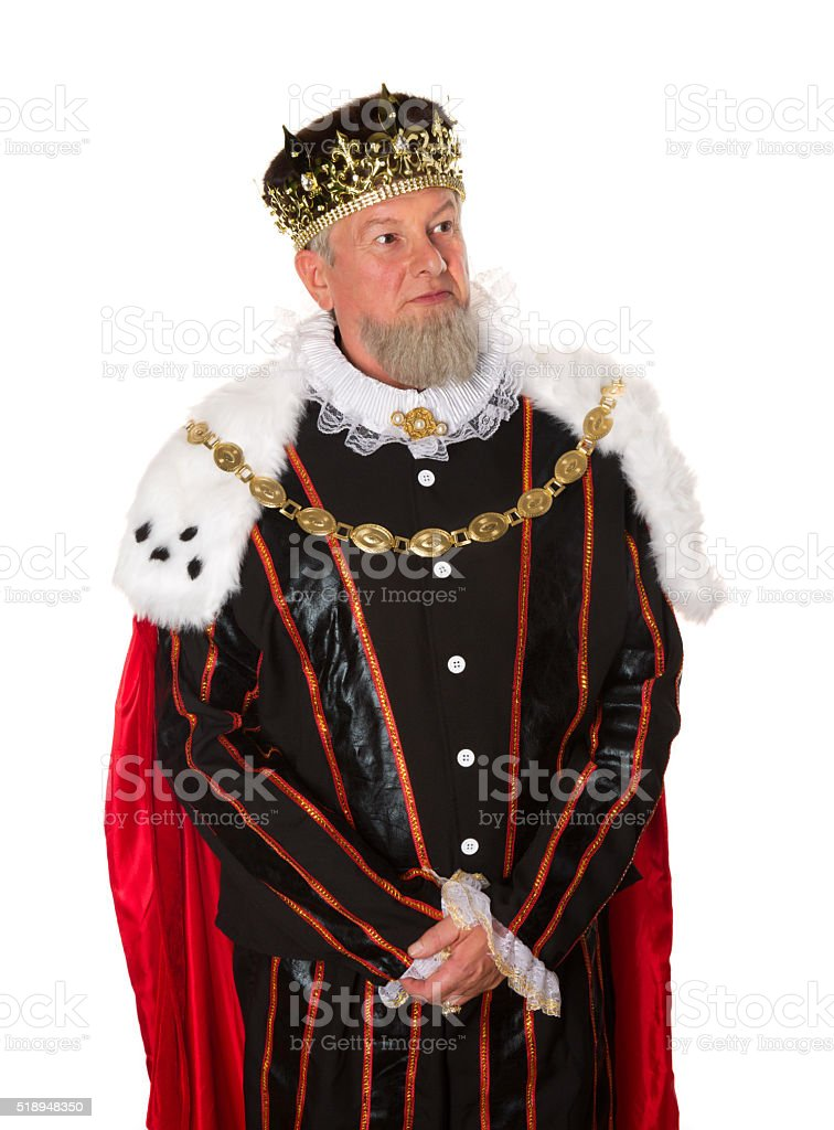 Standing king isolated stock photo