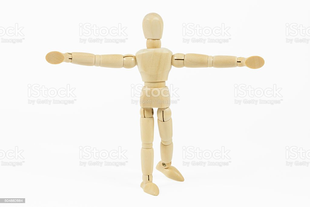 standing mannequin with open arms stock photo
