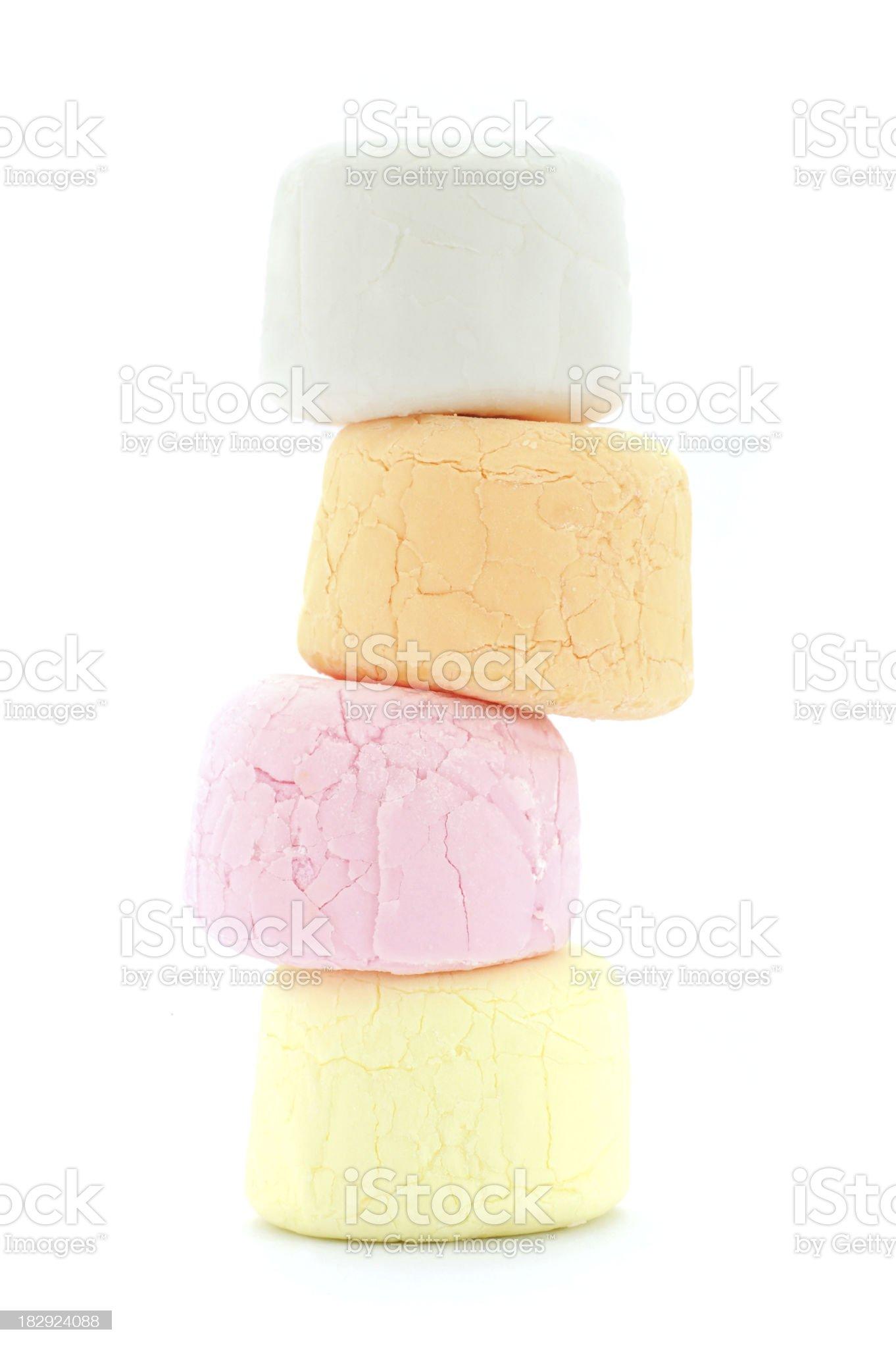 Standing Marshmallow royalty-free stock photo