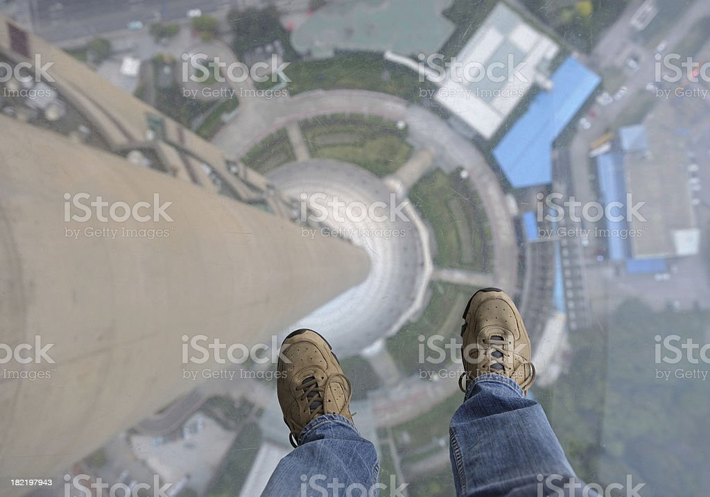 Standing on glassground royalty-free stock photo