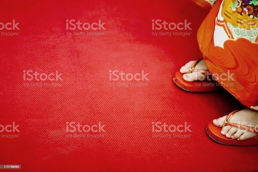 Standing on the Red Carpet royalty-free stock photo
