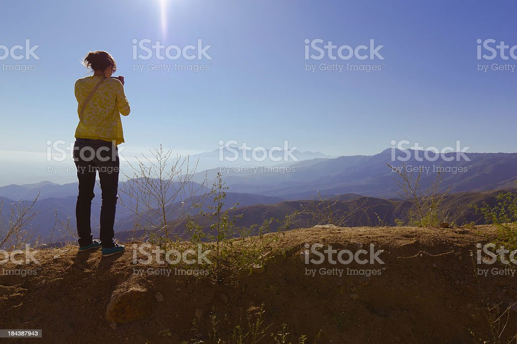 Standing on top of the world (P) royalty-free stock photo