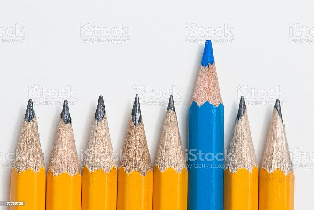 Standing out from the crowd concept royalty-free stock photo