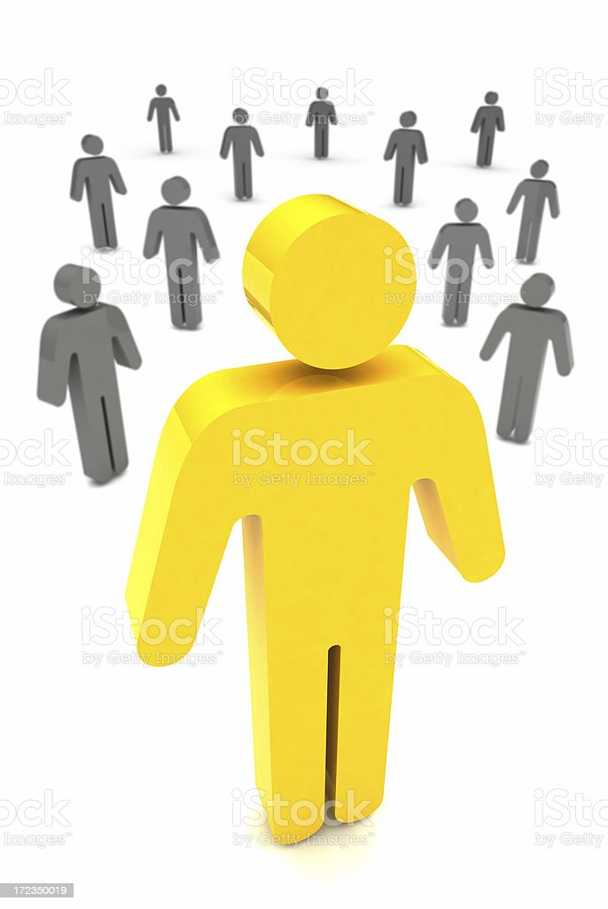 Standing Out From The Crowd royalty-free stock photo