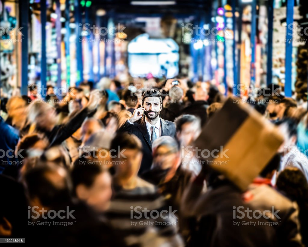 Standing Out from the Crowd in Business stock photo