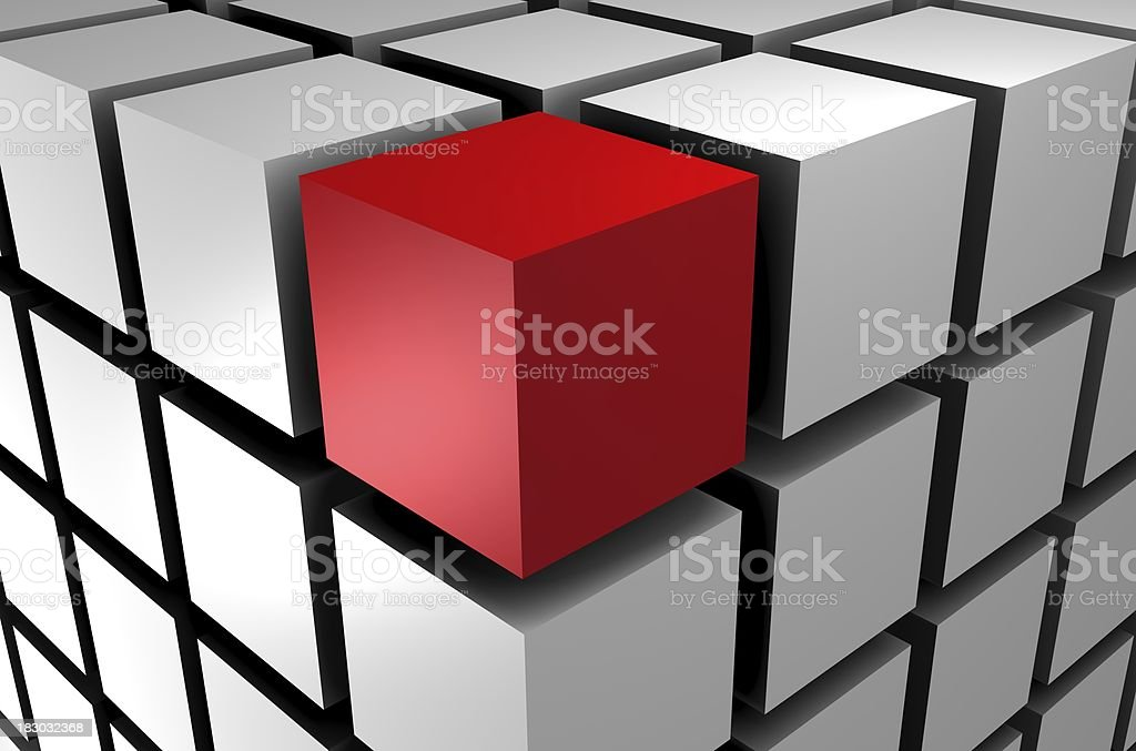 Standing Out From The Crowd XXXL, 5600x3700 royalty-free stock photo