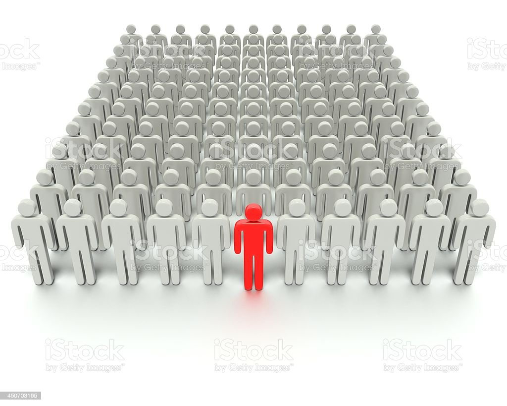 Standing Out From The Large Crowd royalty-free stock photo