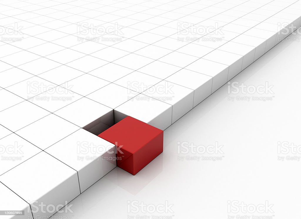 Standing out of the crowd concept with blocks royalty-free stock photo
