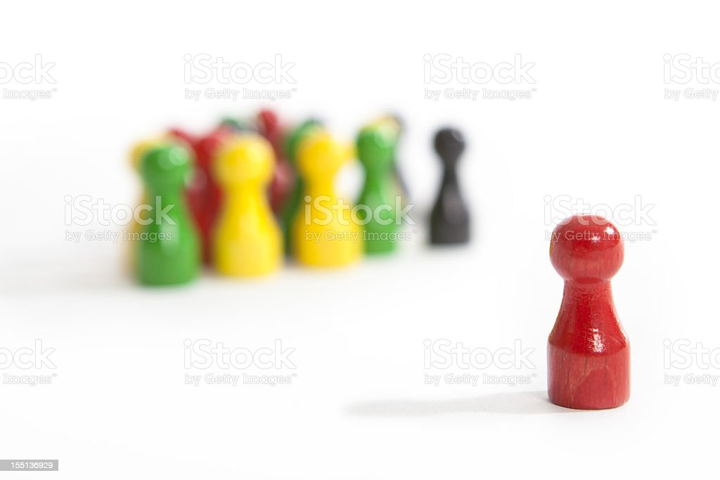 standing out of the crowd royalty-free stock photo