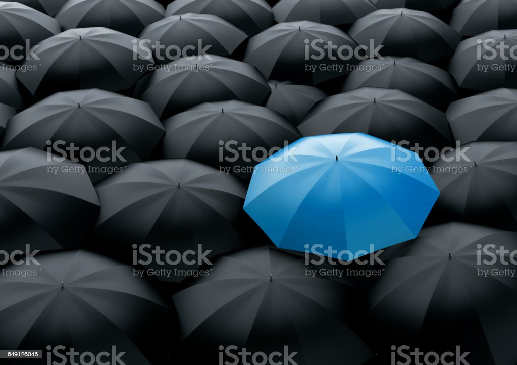 Standing out of the crowd stock photo