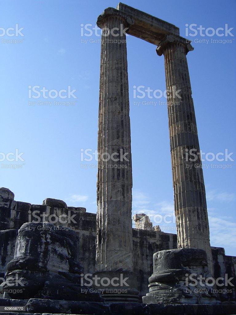 Standing pillar stock photo