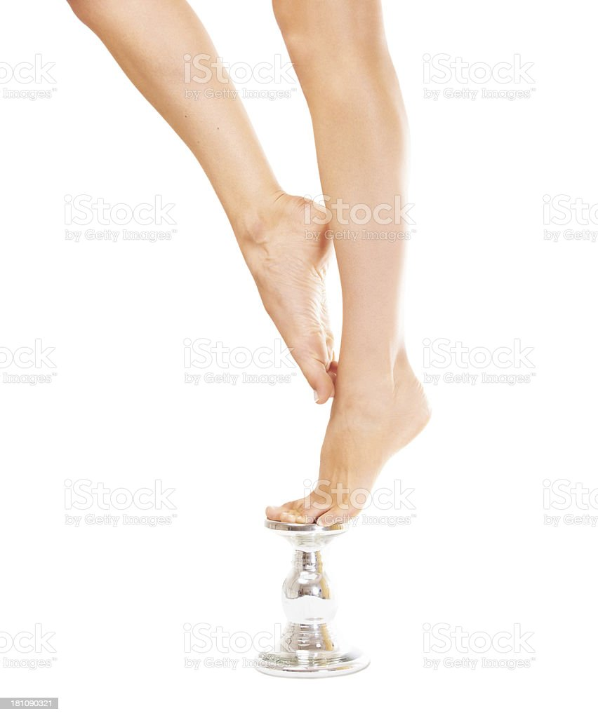 Standing pretty royalty-free stock photo