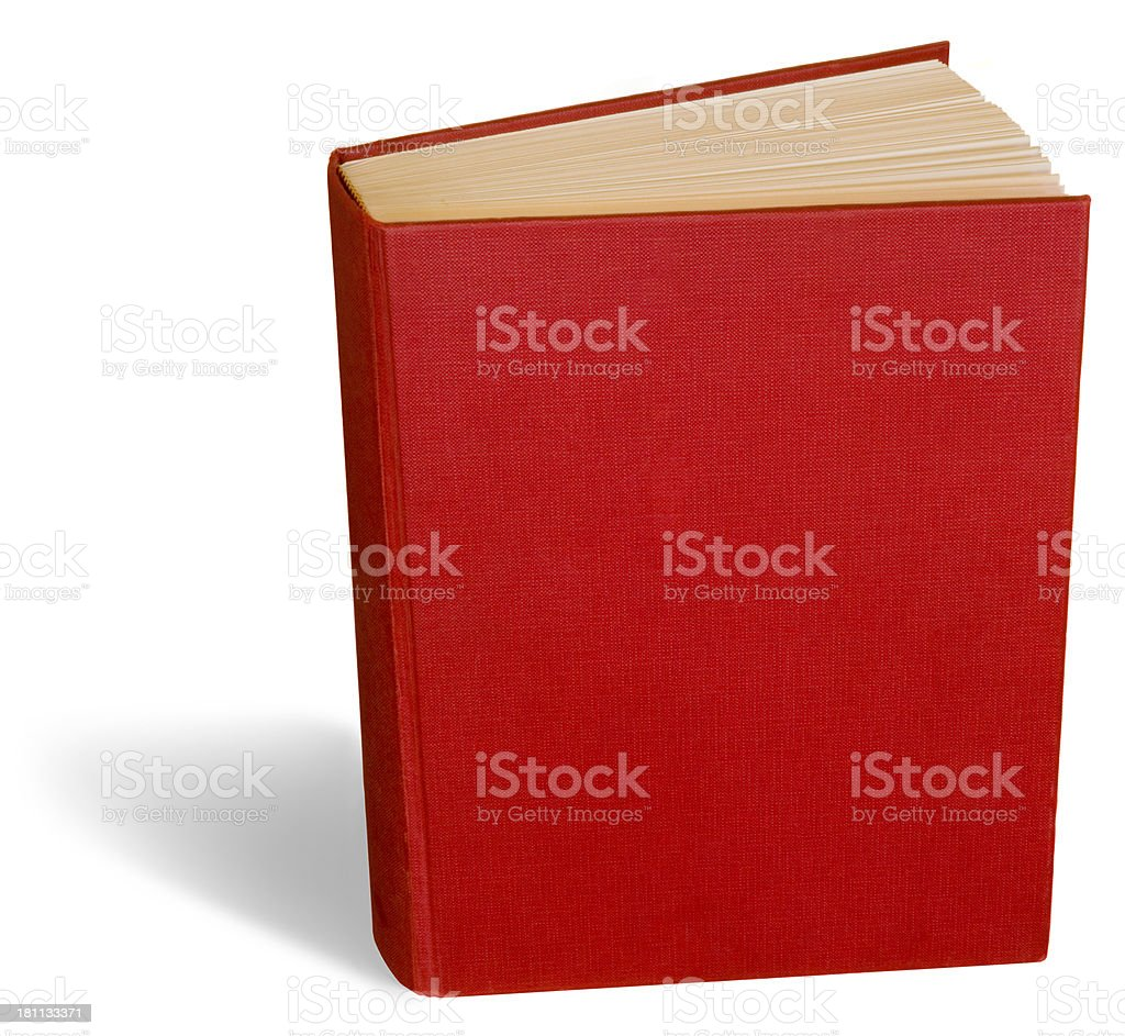 Standing Red Book with Clipping Path royalty-free stock photo
