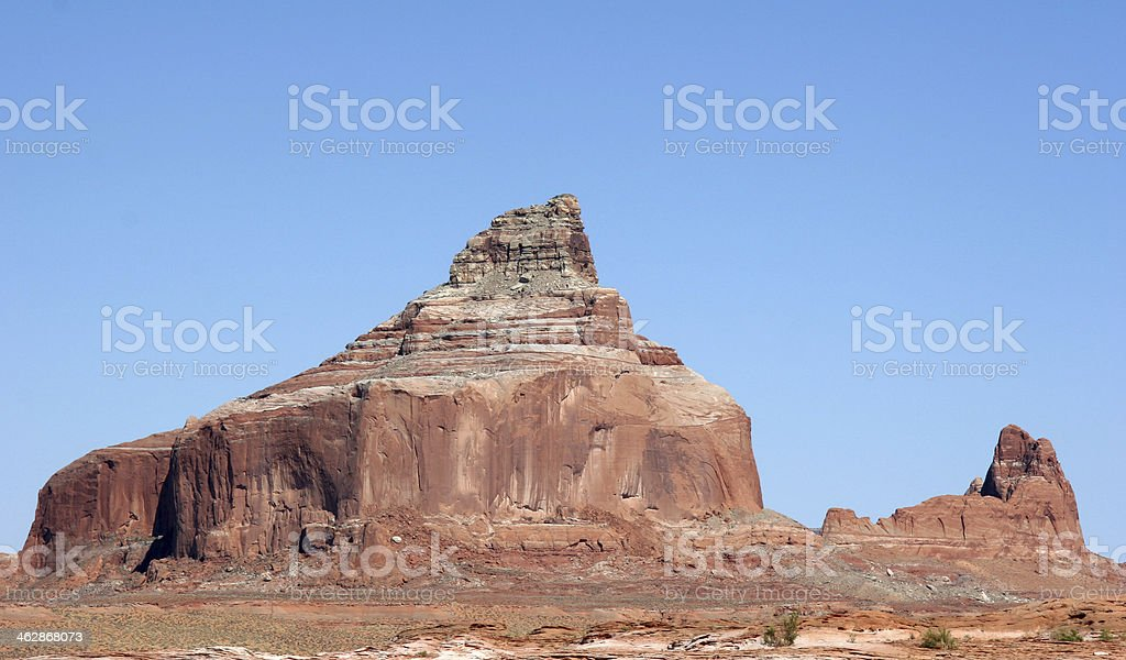 Standing rock at Lake Powell stock photo