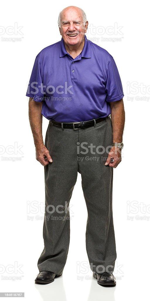 Standing Senior Man royalty-free stock photo