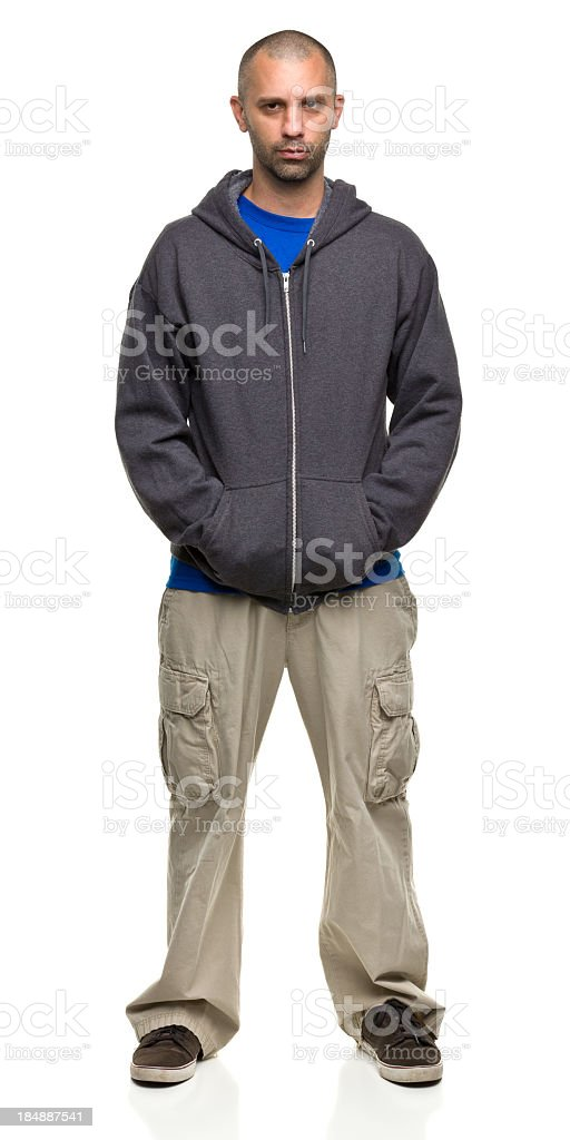 Standing Serious Male Portrait stock photo