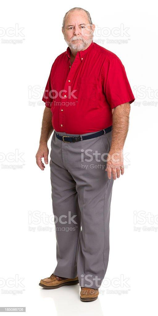 Standing Serious Senior Man royalty-free stock photo