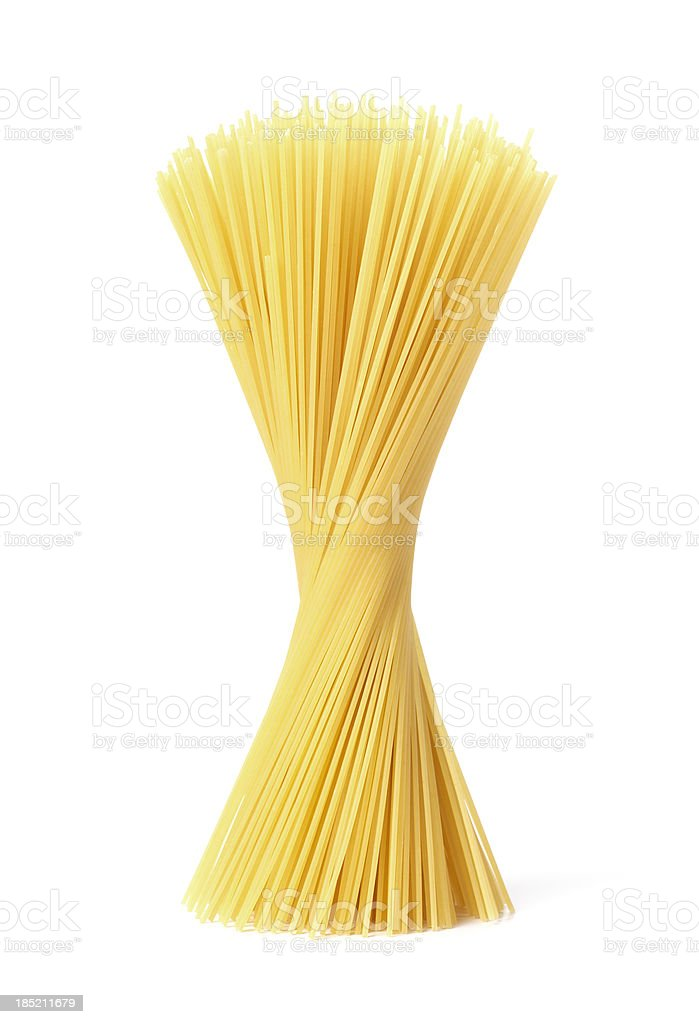 standing spaghetti stock photo