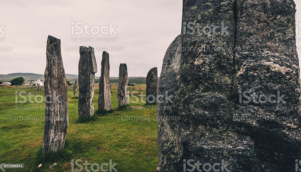 Standing stones at Callanish stock photo