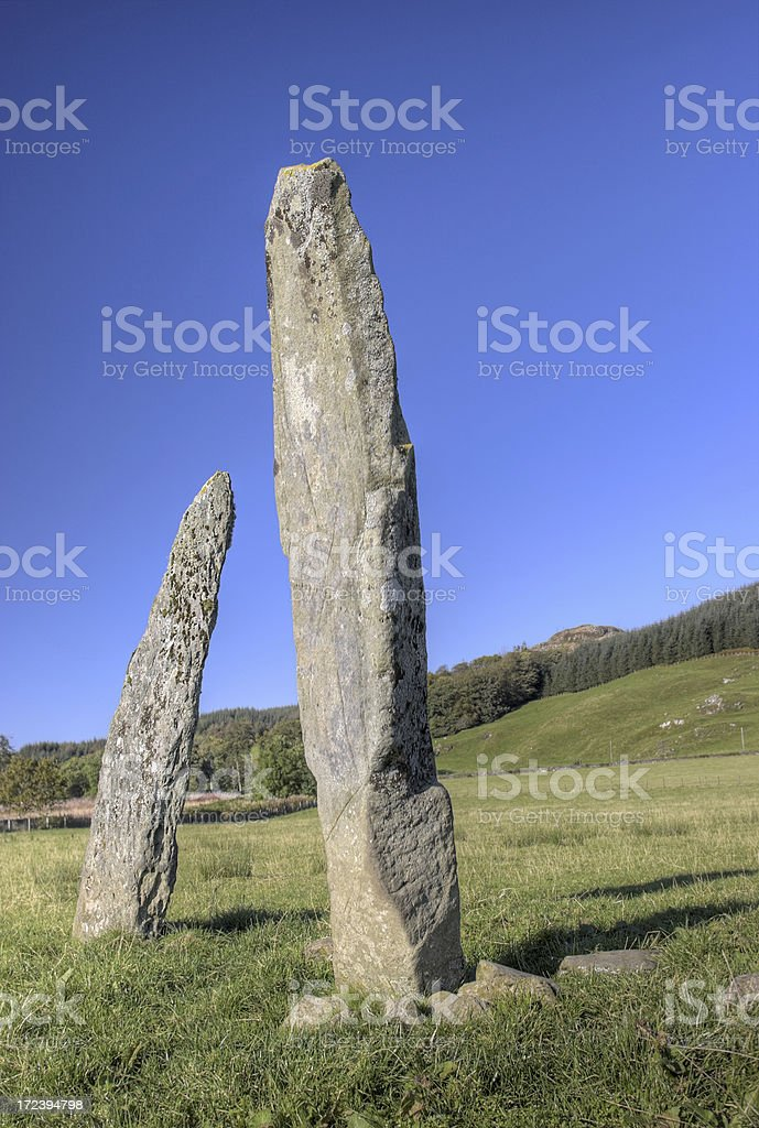 Standing Stones - Ballymeanoch royalty-free stock photo