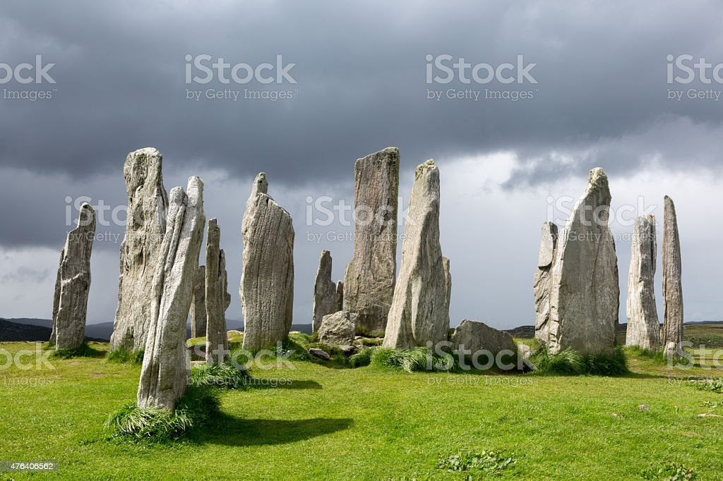 Standing stones in Scotland stock photo