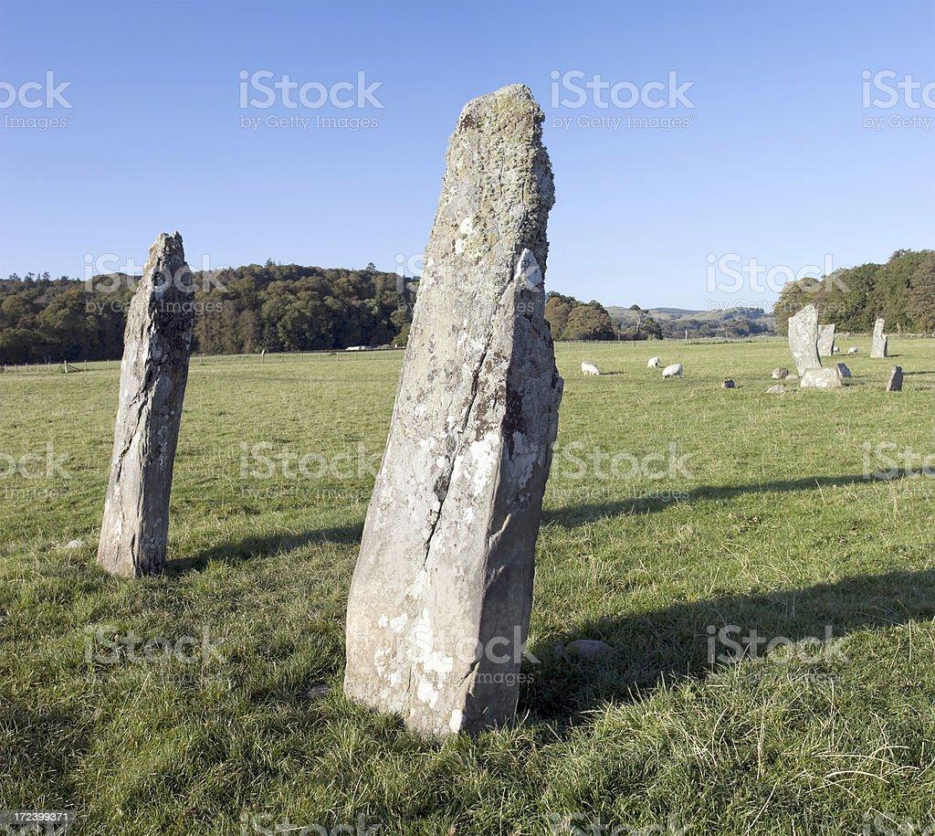 Standing Stones, Nether Largie royalty-free stock photo