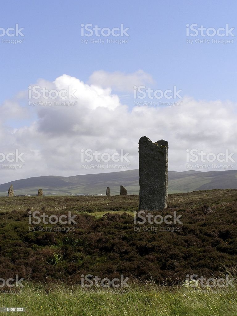 Standing Stones of the Orkney Islands royalty-free stock photo