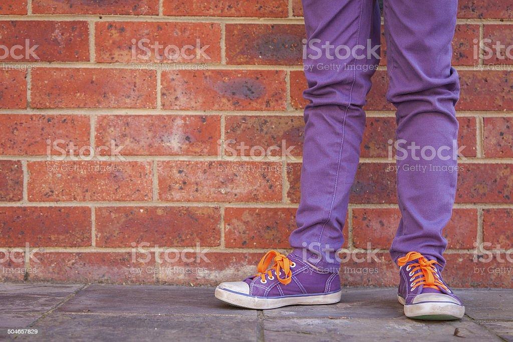 Standing Thinking stock photo