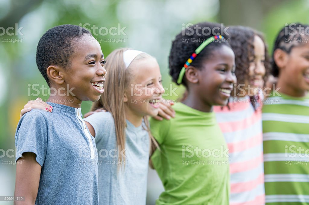 Standing Together at Recess stock photo