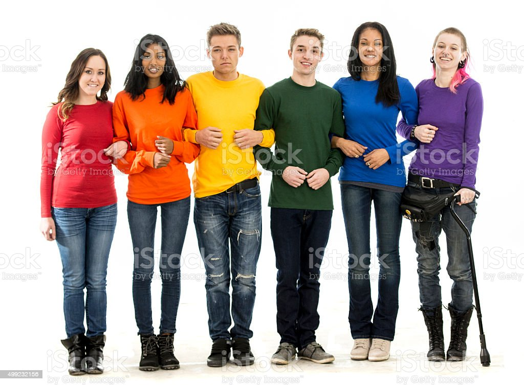 Standing Together for Gay Pride stock photo