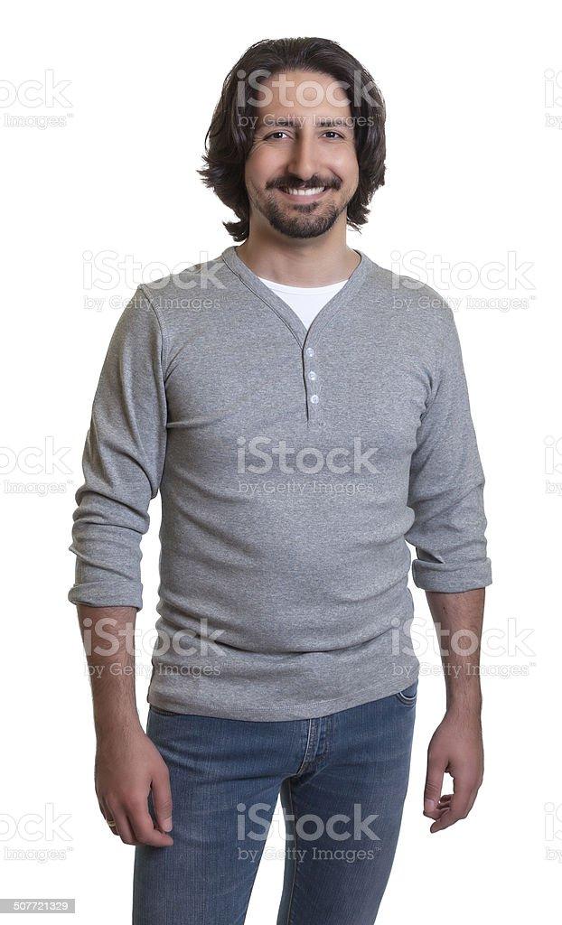 Standing turkish guy stock photo