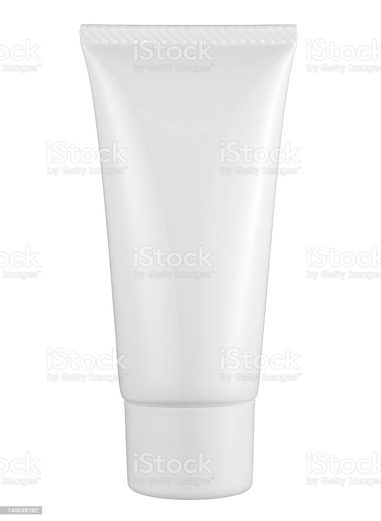 Standing white tube royalty-free stock photo