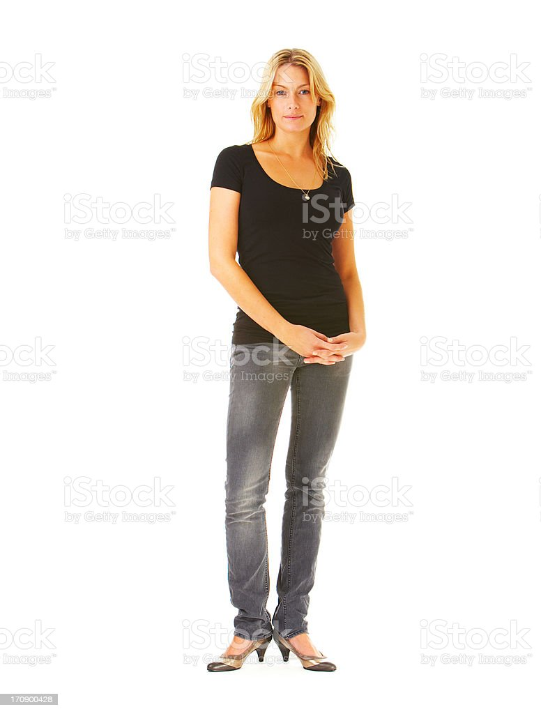 Standing with confidence stock photo
